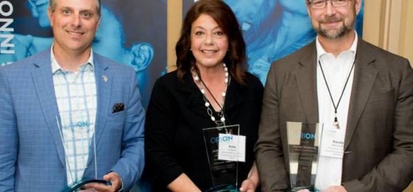 ORION Leadership Award - Prof. Stéphane Lévesque receives the ORION Award 2017 for leadership innovation with the Virtual Historian.
